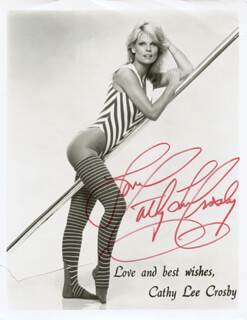 CATHY LEE CROSBY - PRINTED PHOTOGRAPH SIGNED IN INK