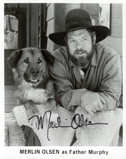 MERLIN OLSEN - AUTOGRAPHED SIGNED PHOTOGRAPH