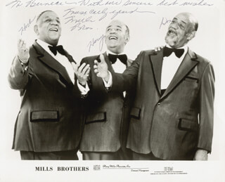 MILLS BROTHERS (HERBERT MILLS) - AUTOGRAPHED INSCRIBED PHOTOGRAPH