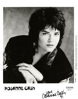 ROSANNE CASH - PRINTED PHOTOGRAPH SIGNED IN INK 1991