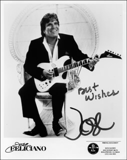 JOSE FELICIANO - PRINTED PHOTOGRAPH SIGNED IN INK