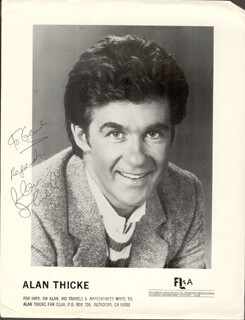 ALAN THICKE - INSCRIBED PRINTED PHOTOGRAPH SIGNED IN INK