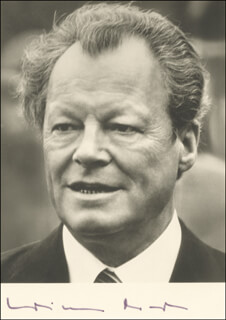 CHANCELLOR WILLY BRANDT (GERMANY) - AUTOGRAPHED SIGNED PHOTOGRAPH  - HFSID 216320