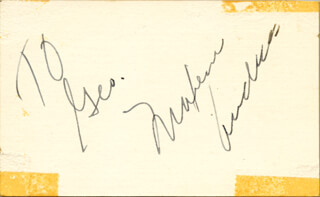Autographs: MAXENE ANDREWS - INSCRIBED SIGNATURE