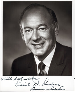 Autographs: GOVERNOR CECIL D. ANDRUS - PHOTOGRAPH SIGNED