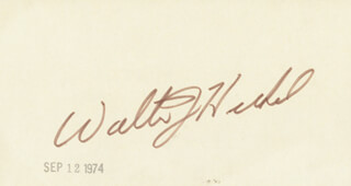 Autographs: WALTER J. HICKEL - SIGNATURE(S)