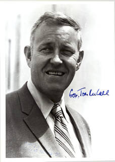 THOMAS McCALL - AUTOGRAPHED SIGNED PHOTOGRAPH