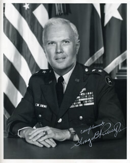 MAJOR GENERAL GEORGE BIBB PICKETT JR. - AUTOGRAPHED SIGNED PHOTOGRAPH