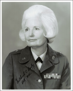 Autographs: BRIGADIER GENERAL MILDRED C. BAILEY - PHOTOGRAPH SIGNED