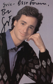 BOB SAGET - AUTOGRAPHED INSCRIBED PHOTOGRAPH