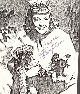 JOYCE COMPTON - PHOTOCOPY SIGNED IN INK