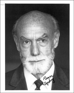 Autographs: ROGER WOLCOTT SPERRY - PHOTOGRAPH SIGNED