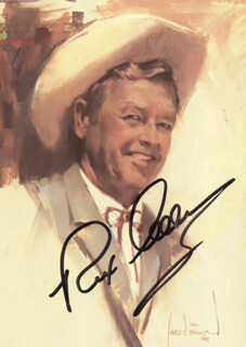 REX ALLEN - ILLUSTRATION SIGNED