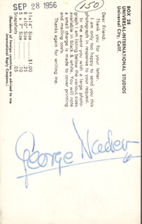 GEORGE NADER - AUTOGRAPHED SIGNED PHOTOGRAPH