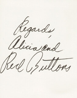 RED BUTTONS - PHOTOGRAPH UNSIGNED