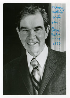 GEORGE MAHON - AUTOGRAPHED SIGNED PHOTOGRAPH 11/13/1973