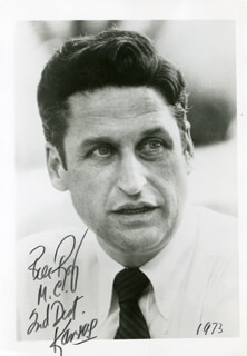 WILLIAM R. ROY - AUTOGRAPHED SIGNED PHOTOGRAPH 1973