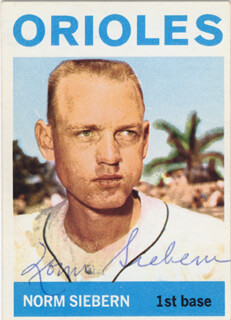 NORM SIEBERN - TRADING/SPORTS CARD SIGNED