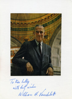 Autographs: GOVERNOR WILLIAM HENRY VANDERBILT - ILLUSTRATION SIGNED