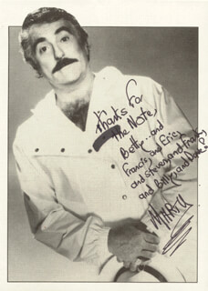 MARTY INGELS - AUTOGRAPHED INSCRIBED PHOTOGRAPH CIRCA 1990
