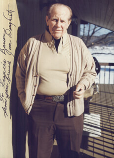 JAMES DAUGHERTY - AUTOGRAPHED SIGNED PHOTOGRAPH