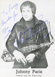 JOHNNY PARIS - PICTURE POST CARD SIGNED