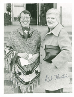 DOROTHY LOUISE DEL MARTIN - AUTOGRAPHED SIGNED PHOTOGRAPH CO-SIGNED BY: PHYLLIS LYON