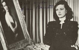 JOAN BENNETT - MAGAZINE PHOTOGRAPH SIGNED