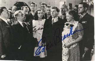 HAIL THE CONQUERING HERO MOVIE CAST - MAGAZINE PHOTOGRAPH SIGNED CO-SIGNED BY: EDDIE BRACKEN, ELLA RAINES