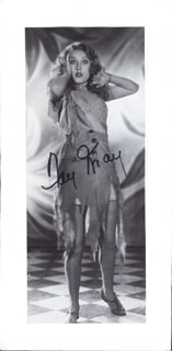 FAY WRAY - MAGAZINE PHOTOGRAPH SIGNED