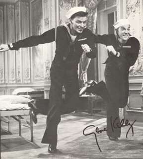 GENE KELLY - MAGAZINE PHOTOGRAPH SIGNED