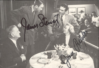 STRATTON STORY MOVIE CAST - MAGAZINE PHOTOGRAPH SIGNED CO-SIGNED BY: JAMES JIMMY STEWART, JUNE ALLYSON