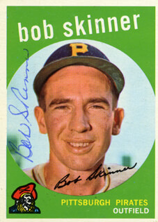 BOB SKINNER - TRADING/SPORTS CARD SIGNED