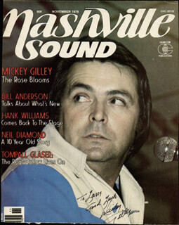 Autographs: MICKEY GILLEY - INSCRIBED MAGAZINE COVER SIGNED