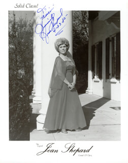 JEAN SHEPARD - INSCRIBED PRINTED PHOTOGRAPH SIGNED IN INK 04/23/1985