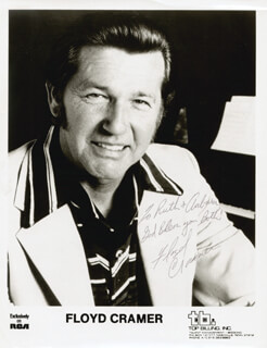 FLOYD MR. KEYBOARDS CRAMER - AUTOGRAPHED INSCRIBED PHOTOGRAPH