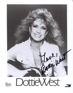 DOTTIE WEST - AUTOGRAPHED SIGNED PHOTOGRAPH