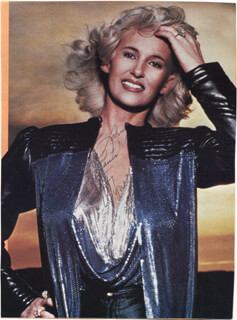 TAMMY WYNETTE - INSCRIBED MAGAZINE PHOTO SIGNED