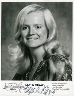 KATHY SHAW - AUTOGRAPHED INSCRIBED PHOTOGRAPH