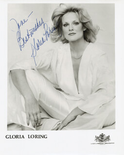GLORIA LORING - INSCRIBED PRINTED PHOTOGRAPH SIGNED IN INK