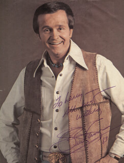 Autographs: BILL WHISPERING BILL ANDERSON - INSCRIBED MAGAZINE PHOTO SIGNED 1983