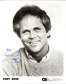 TONY DOW - AUTOGRAPHED INSCRIBED PHOTOGRAPH