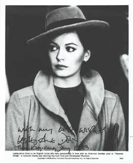 LESLEY-ANNE DOWN - PRINTED PHOTOGRAPH SIGNED IN INK 1989