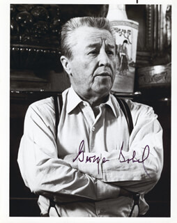 GEORGE GOBEL - AUTOGRAPHED SIGNED PHOTOGRAPH