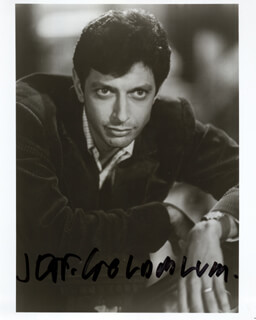 JEFF GOLDBLUM - AUTOGRAPHED SIGNED PHOTOGRAPH
