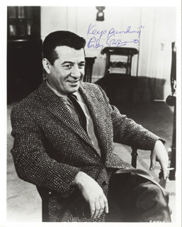 ROCKY GRAZIANO - AUTOGRAPHED SIGNED PHOTOGRAPH