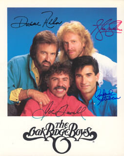 OAK RIDGE BOYS - AUTOGRAPHED SIGNED PHOTOGRAPH CO-SIGNED BY: OAK RIDGE BOYS (DUANE ALLEN), OAK RIDGE BOYS (JOE BONSALL), OAK RIDGE BOYS (STEVE SANDERS), OAK RIDGE BOYS (RICH STERBAN)