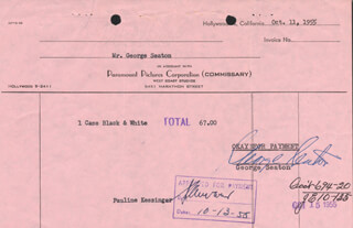 GEORGE SEATON - DOCUMENT SIGNED 10/11/1955