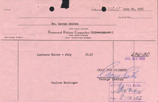 GEORGE SEATON - DOCUMENT SIGNED 07/26/1955