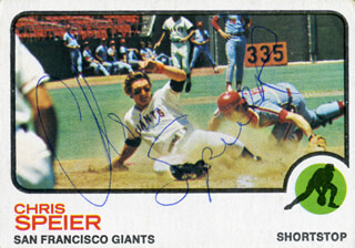 CHRIS SPEIER - TRADING/SPORTS CARD SIGNED